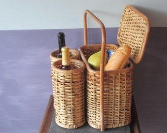 Picnic Basket - Wicker Basket - Wicker Picnic Basket - Woven Basket - Small Picnic Basket