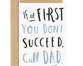 Call Dad Father's Day Card - Card for Dad - Dad Card - CC10