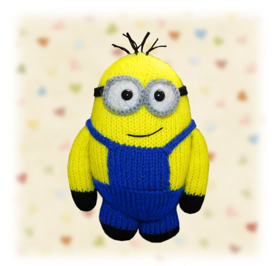 Minion Knitted Toy PATTERN by LHCpatterns on Etsy