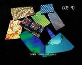 COE 90 CBS Dichroic Scrap Black 4 oz (1/4 lb) Jewelers Variety Pack