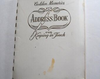 Vintage Address Book