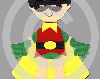 Robin Super Hero Scrapbook Die Cut Doll Superhero Project Life Batman