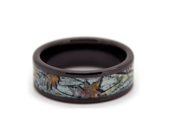 white camo wedding rings by one camo snow camo band black rings snow white camouflage wedding ring - Mens Camo Wedding Ring