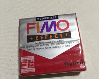 FIMO Effect Polymer Clay - 202 Glitter Red - 56g Single Block