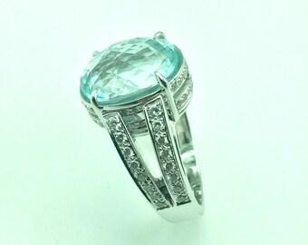 Certified 6 carat Paraiba tourmaline ring , and diamonds, price cut to wholesale price!