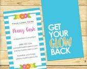 GLOW Double Sided Vertical Business Card, Custom Design - DIGITAL FILE