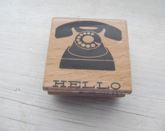 Studio G Rubber Stamp, Telephone Hello, Never Used