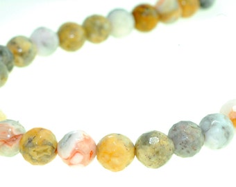 Lazy agate beads,Agate beads,Faceted lazy agate beads ,Earth-yellow tone beads,Faceted beads, Natural gemstones,Faceted agate beads 10 mm