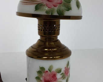 Brass and Rose Night Lamp
