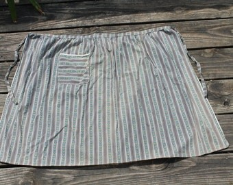 Vintage Striped Half Apron