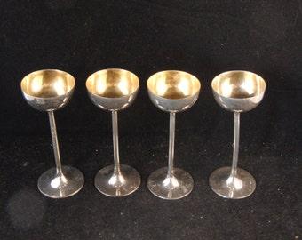 Vintage metal shot glasses (4 glasses)
