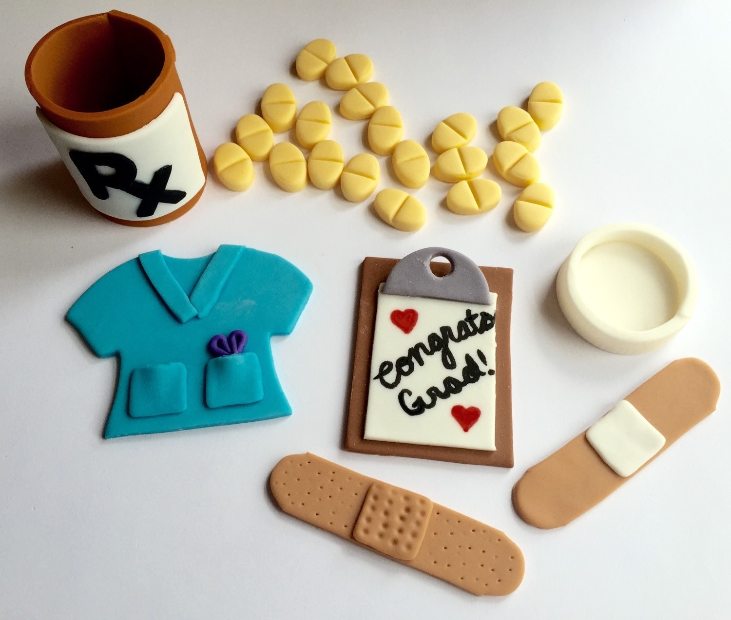 Cake Decorating Medical Theme : Fondant Nurse Doctor Medical Cake Decorating Set