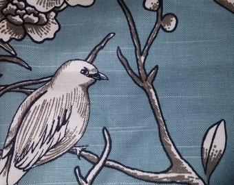 Beautiful Robert Allen- Dwell Studio Vintage Blossom Slub Jade- Upholstery fabric remnant