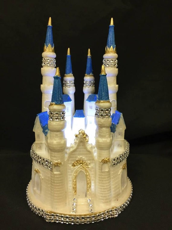 cinderella castle royal wedding cake topper tale castle cake topper with lights castle cake topper 12852