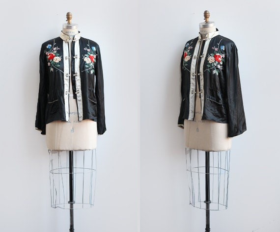Blossom street jacket s chinese embroidered