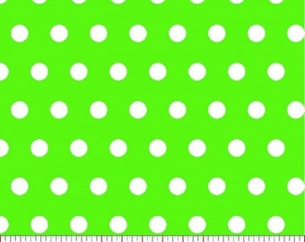 Tiny Dot --- Lime Polka Dot Fabric ----100 Percent Cotton --- Fabric By The Yard