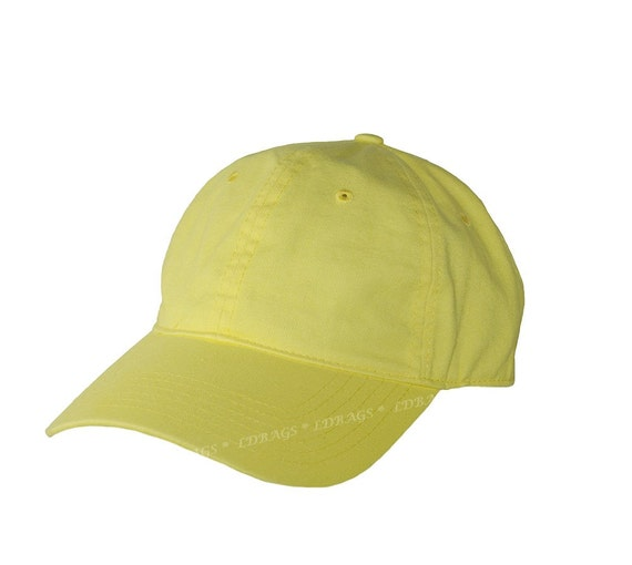 personalized baseball hat yellow monogrammed by