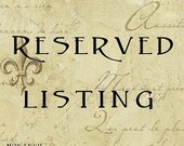 Reserved for Kim R - Rings