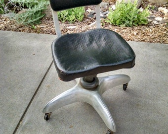 Vintage Industrial Propeller Base Good Form Mid Century Desk Chair