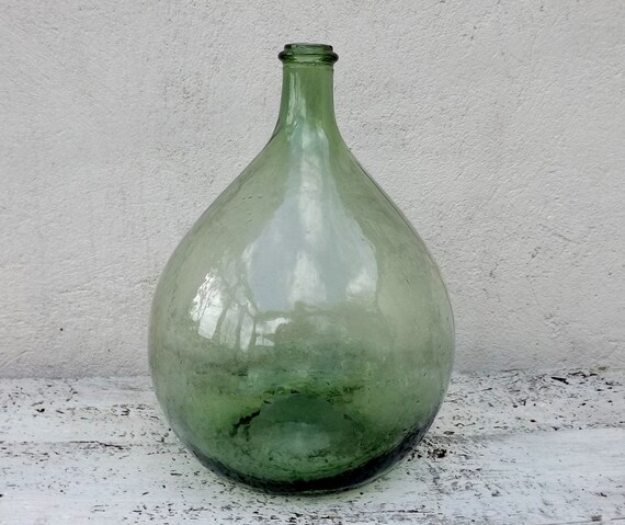 bouteille en verre vert bouteille bouteille oignon en forme. Black Bedroom Furniture Sets. Home Design Ideas