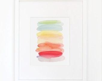 Watermelon Wash- Watercolor Art Print