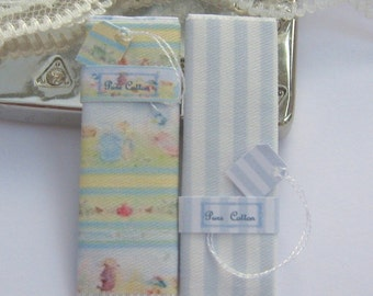 dollhouse peter rabbit sewing fabric bolts beatrix potter  12th scale miniature