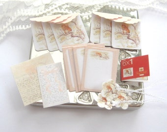 dollhouse writing paper set stationery beatrix potter squirrel nutkin one inch scale miniature