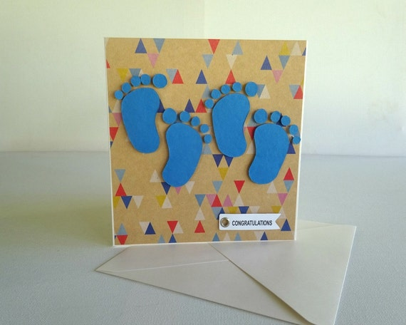 twin gift card. twin greeting card baby shower card. twin boy, Baby shower invitation