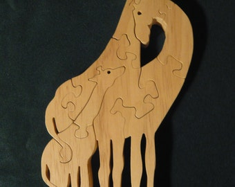 Giraffe Family Wooden Puzzle