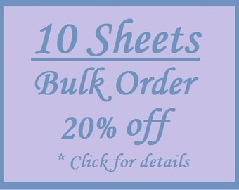 Bulk Order 10 Sheet Discount - White Custom Printed Labels / Sew in Clothing labels / Personalized Fabric Labels - For Crochet, Knit, Sewing