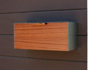 Modern Mailbox,  Mahogany and Stainless Steel Mailbox