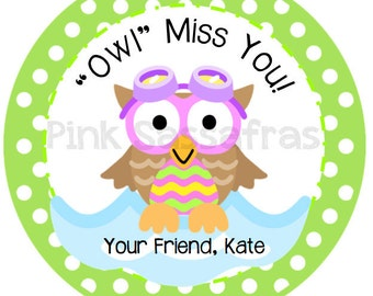Owl Miss You Girl Gift Tags