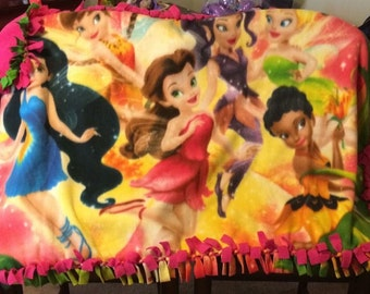 Tinkerbell and friends blanket