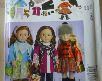 """McCall's 7006 or 403 American Girl 18"""" Doll pattern - uncut"""