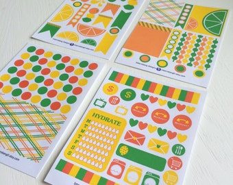C01 - Citrus Collection - Planner Stickers