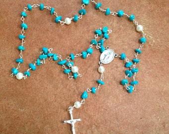 Turquoise rosary handmade