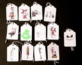 13 Nightmare Before Christmas Gift Tags 3 1/4 x 2 1/8 in.
