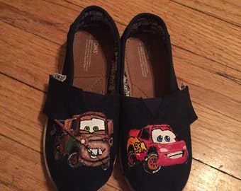 Cars Toms. [Lightning McQueen & Mater] Pixar Cars Shoes