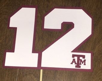 Texas ATM Aggie 12th Man Diecut/Cutouts for Centerpieces, Scrapbooking, Parties, Photo Booth and More
