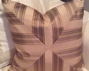 """Stripe 20"""" polyester designer pillow cover"""