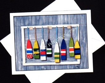 Hanging with the Buoys - Blank Note Cards