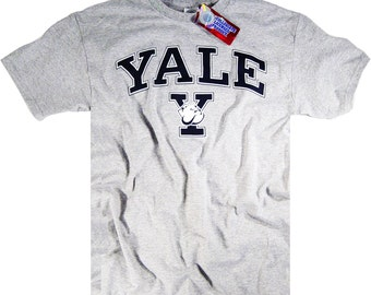 Yale Shirt T-Shirt Bulldogs College University Apparel Officially Licensed By The NCAA