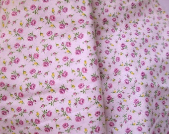 Antique Cotton 35 inch Vintage 1930s Fabric Quilting Sewing Tiny  Floral Half Yard