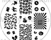 Nail Art Stamping Image Plate MM22 - Halloween Themed