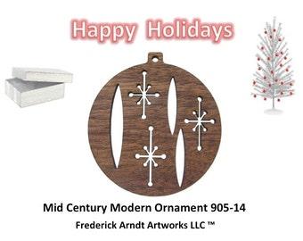 905-14 Mid Century Modern Christmas Ornament