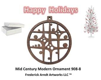 908-8 Mid Century Modern Christmas Ornament