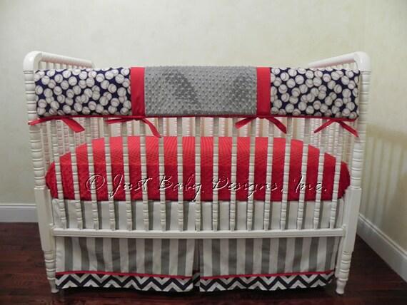 Baseball Crib Bedding Set Corey Boy Baby Bedding Crib Rail