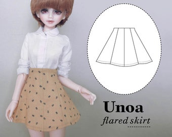 UNOA Minifee Narae Slim MSD BJD Flared Skirt Pattern Digital