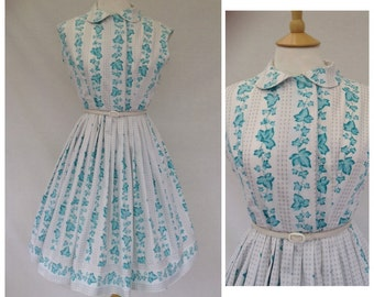 1950s Day Dress, Summer , Garden Party ,