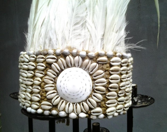 Traditional tribe crown white Feathers